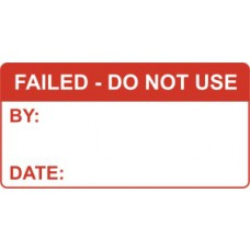 Failed - Do Not Use - Self Laminating Labels  (50 x 25mm Roll of 250)
