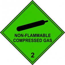Non-flammable Compressed Gas 2 - Labels (250 x 250mm Pack of 10)