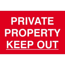 Private property Keep out - PVC (300 x 200mm)