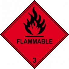Flammable 3 - Labels (100 x 100mm Roll of 250)