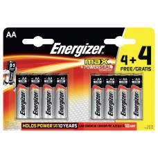 Energizer Max+ Power Seal AA 4pk + 4 Free