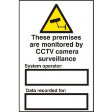 These premises are monitored by CCTV camera surveillance - PVC (200 x 300mm)