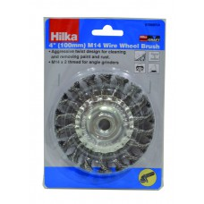 *TEMP OUT OF STOCK* Hilka 100mm M14 Wire Wheel Brush (51960114)