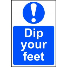Dip your feet - PVC (200 x 300mm)