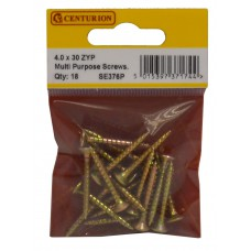 4mm x 30mm ZYP Multi Purpose Single Thread Countersunk Pozi Screws (Pack of 18)
