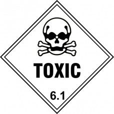 Toxic 6.1 - Labels (250 x 250mm Pack of 10)