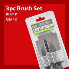 3 Piece Trade Quality Paint Brush Set