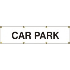Car park - (with seperate arrow) BAN (1200 x 300mm)