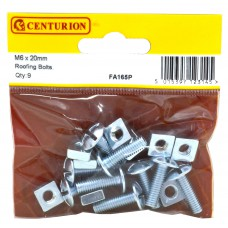 M6 x 20mm ZP Roofing Bolts (Pack of 9)