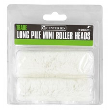 "100mm (4"") Long Pile Mini Roller Heads (Pack of 2)"