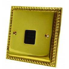 Georgian Brass Master Phone Socket