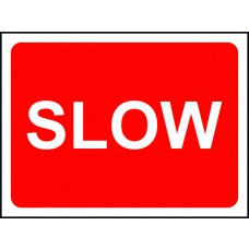 1050 x 450mm Temporary Sign & Frame - Slow