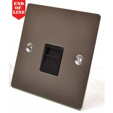 Satin Chrome Flat Plate Secondary Phone Socket