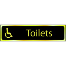Toilets (disabled logo) - POL (200 x 50mm)