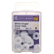 White Hinged Screw Covers (Pack of 10)