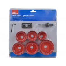 Hilka 8pc Downlights Holesaw Set 50 - 85mm (76200008)