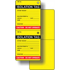 Isolation Tag (Pack of 50)