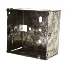 1 Gang 47mm Deep Galvanised Steel Box
