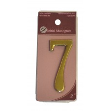"""2"""" Gold Effect Numeral 7"""