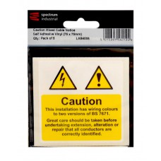 Caution Mixed Cable Notice - Pack of 25 SAV (75 x 75mm)
