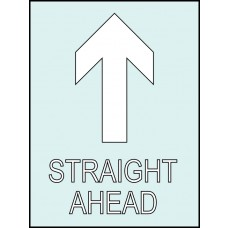 Straight ahead (with arrow up) Stencil - 300 x 400mm