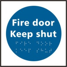 Fire door Keep shut - Taktyle (150 x 150mm)