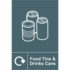 Recycling: Food Tins & Drinks Cans - SAV (200 x 300mm)