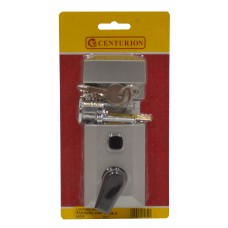 Silver Standard Double Locking Nightlatch Chromed Cylinder