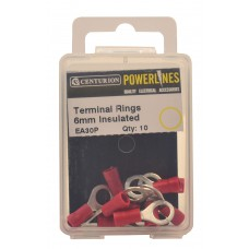 6mm Insulated Terminal Rings (Pack of 10)