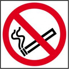 No smoking symbol (Multipack of 20) - PVC (100 x 100mm) (Pack of 20)