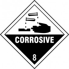 Corrosive 8 - Labels (250 x 250mm Pack of 10)