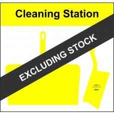 Shadowboard - Cleaning Station Style D (Yellow) With Hooks - NO STOCK
