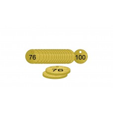 38mm dia. Brass Filled Tags (76 to 100)