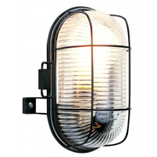 Bulkhead Light - Oval - Black
