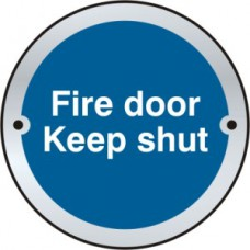 Fire door Keep shut door disc - SSS (75mm dia.)