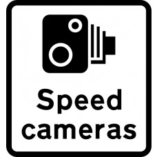 450 x 550mm Dibond 'Speed cameras' Road Sign (with channel)