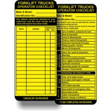 Forklift Tag Inserts (Pack of 50)
