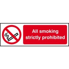 All smoking strictly prohibited - SAV (300 x 100mm)