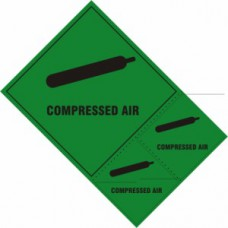Compressed air labels - SAV (200 x 300mm) (Pack of 3)