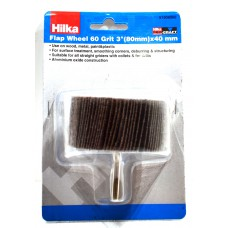 Hilka 80 x 40mm 60 Grit Flap Wheels (51908060)
