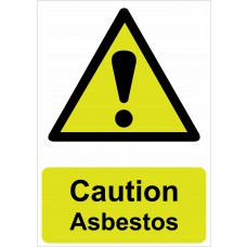 Caution Asbestos - RPVC (148 x 210mm)