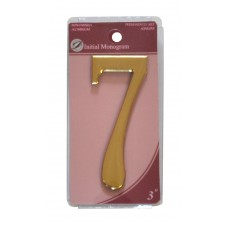 """3"""" Gold Effect Numeral 7"""