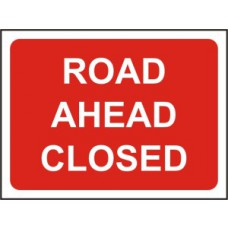 1050 x 750mm  Temporary Sign & Frame - Road Ahead Closed