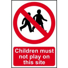 Children must not play on this site - Correx (400 x 600mm)