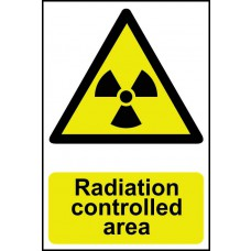 Radiation controlled area - PVC (200 x 300mm)