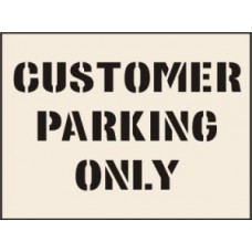 Customer Parking Only Stencil (400 x 600mm)