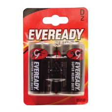 Eveready - Super Zinc Batteries - S3974 D x 2