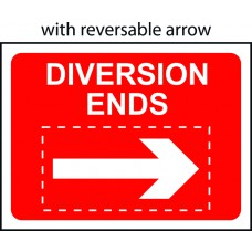 Diversion Ends with reversible arrow - TriFlex Roll up traffic sign (1050 x 750mm)