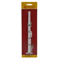 "250mm (10"") White Traditional Pattern Locking Casement Stay"