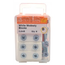 White Modesty Blocks (Pack of 8)
